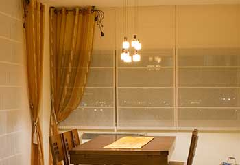 Motorized Roman Shades | Turtle Rock | Costa Mesa CA Blinds & Shades